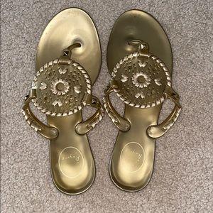 Jack Rogers gold metallic Georgica sandal